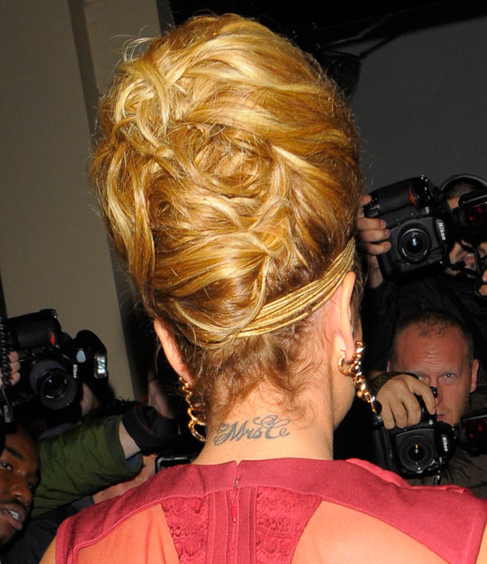 cheryl cole with mrs c tattoo