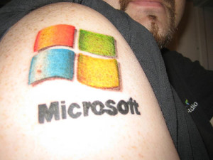 corp logo microsoft tattooremoval 300x225 6 Bad Tattoos You May Want Removed