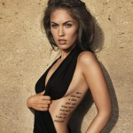 Megan Fox has around nine tattoos but has begun the process of laser tattoo removal.
