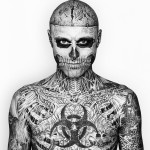 Rick Genest aka Zombie Boy with his tattoos.